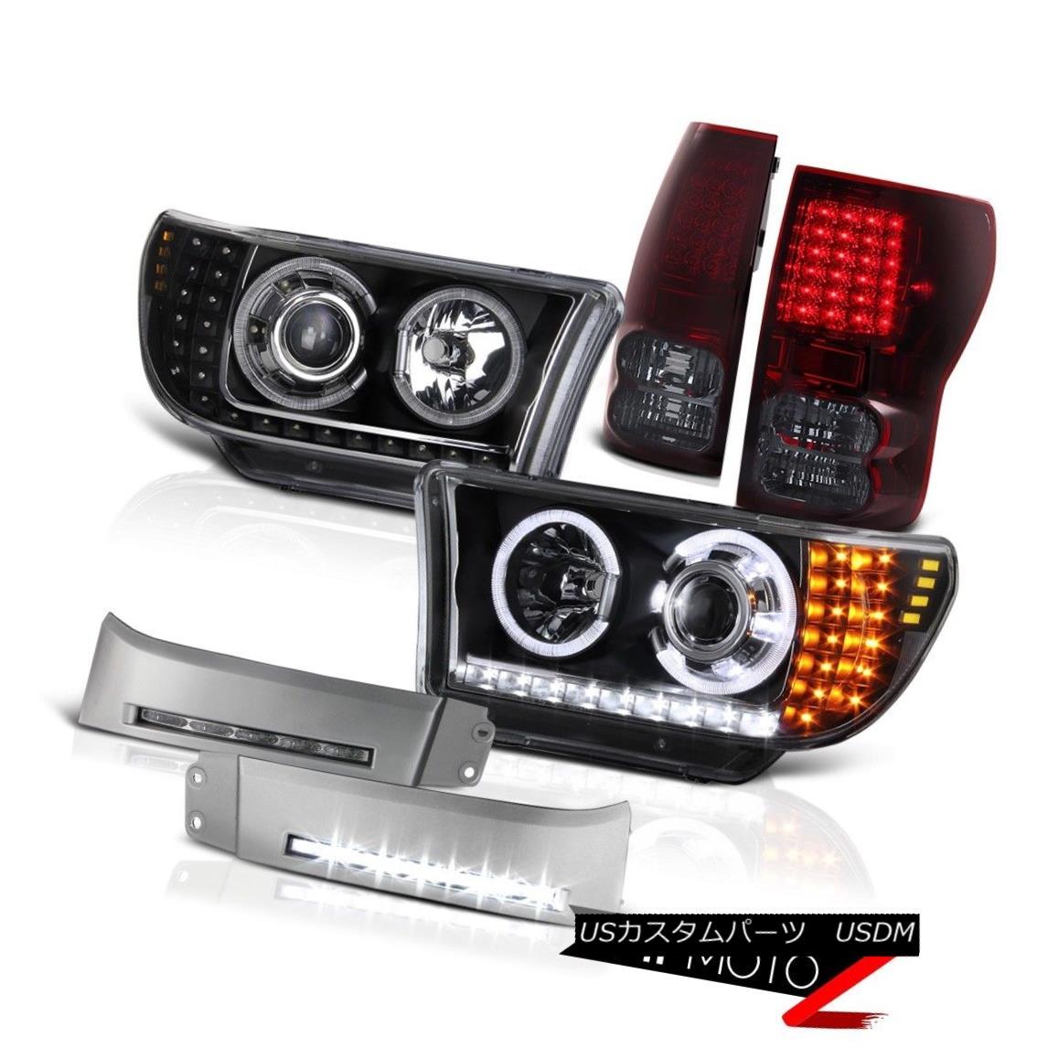 テールライト 2007 2008 2009 2010 2011 2012 2013 Tundra BLK Red Smoke Tail light Headlight Fog 2007年2008年2009年2010年2011年2012年2013年Tundra BLKレッド煙テールライトヘッドライトフォグ