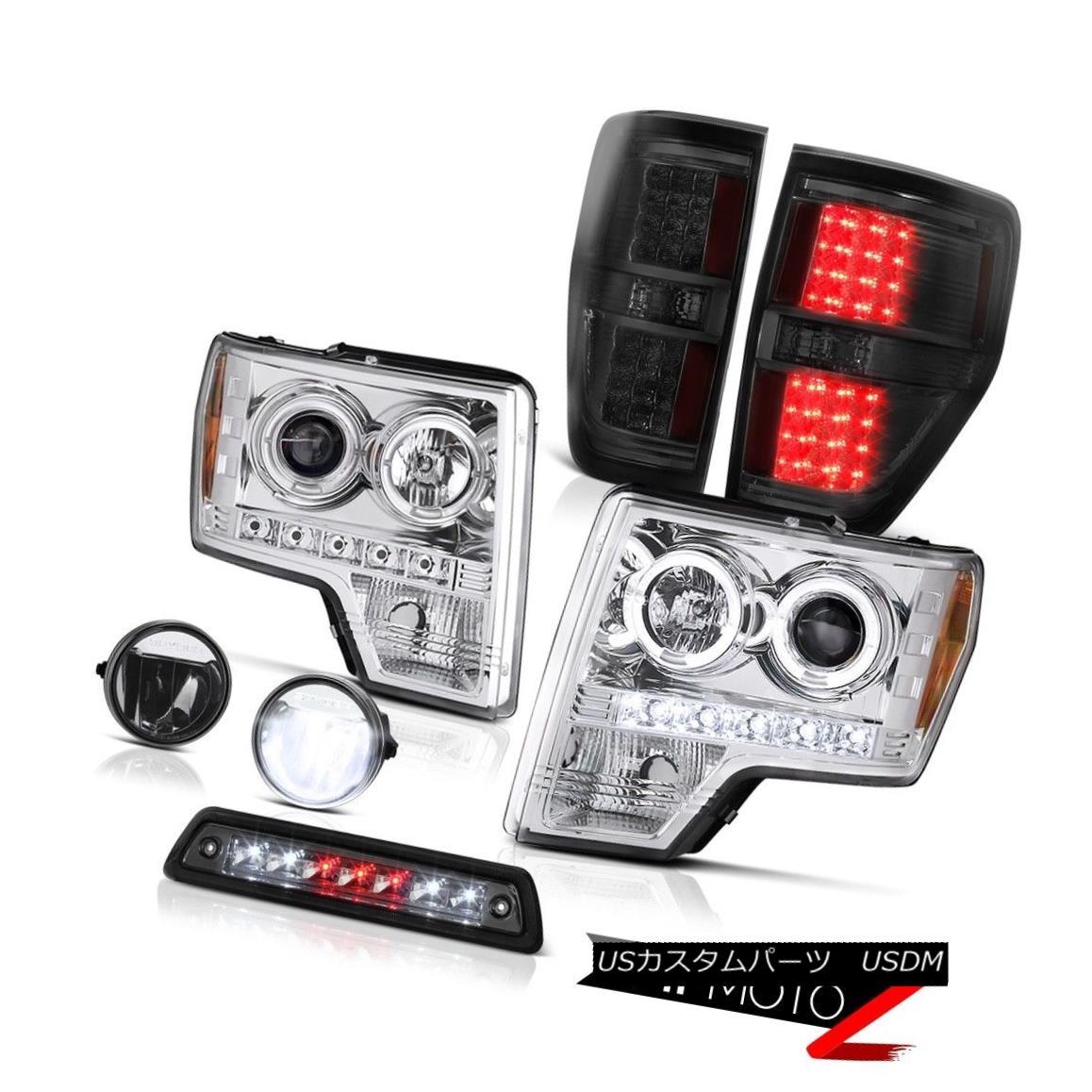 テールライト 09-14 F150 5.0L Smokey high stop light fog lamps tail lights headlamps Dual Halo 09-14 F150 5.0Lスモーキーハイストップライトフォグランプテールライトヘッドランプデュアルヘイロー