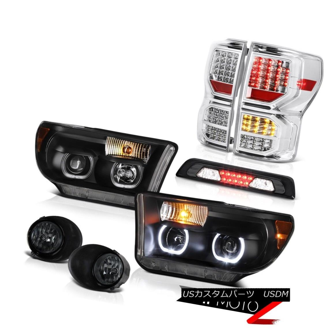 テールライト 07-13 Toyota Tundra Limited Tail Brake Lights Headlights Fog High Stop Lamp SMD 07-13 Toyota Tundra LimitedテールブレーキライトヘッドライトフォグハイストップランプSMD
