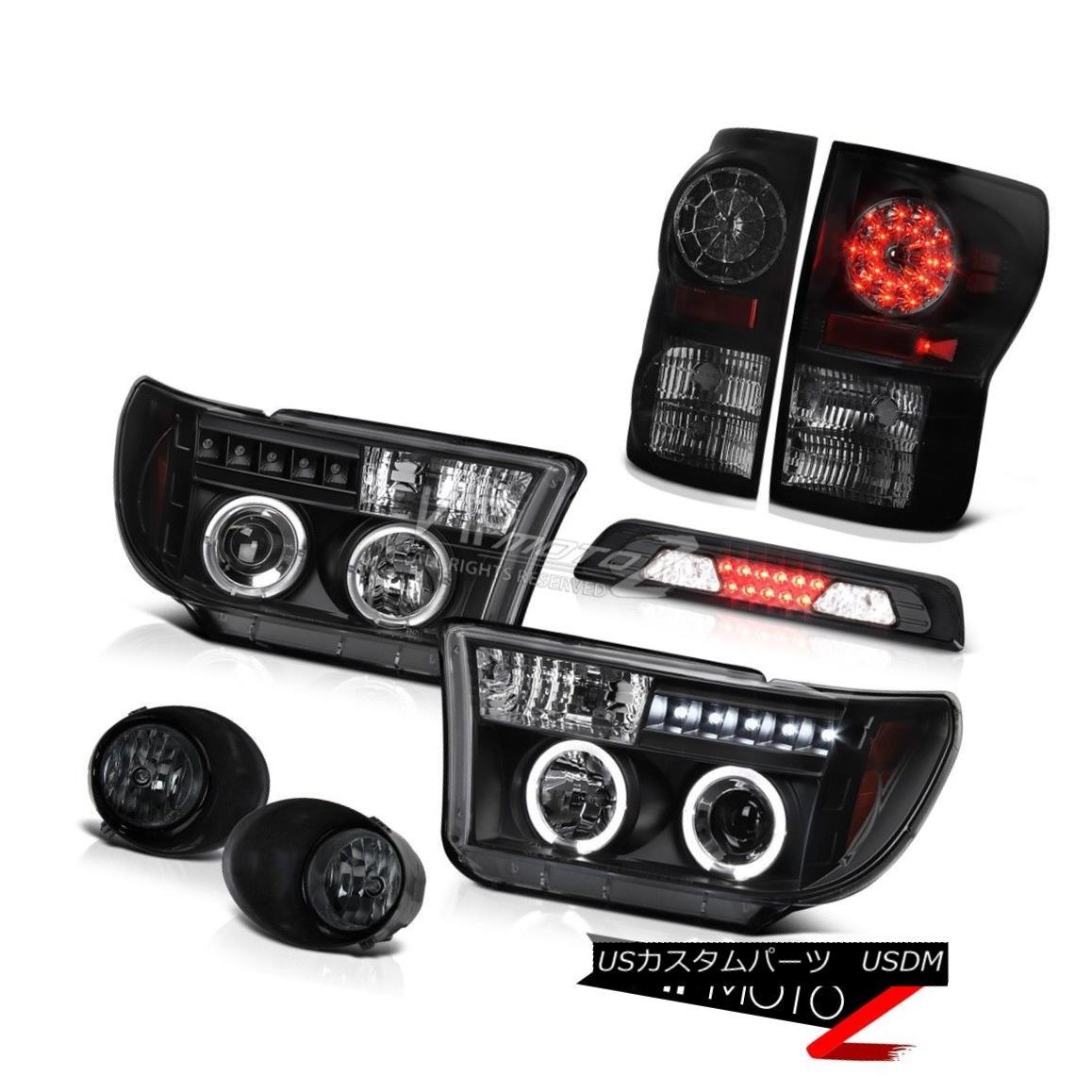 テールライト 07-13 Toyota Tundra Platinum Fog Lamps Roof Cab Lamp Black Headlamps Tail LED 07-13トヨタ・トンドラプラチナフォグランプルーフキャブ・ランプブラックヘッドランプテールLED