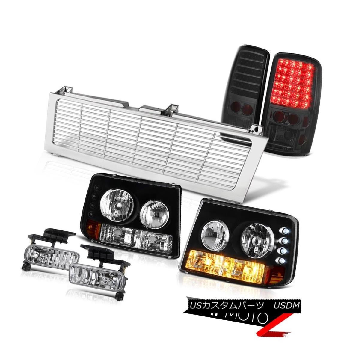 テールライト Headlights Bumper Tinted LED Brake Lights Chrome Fog Grille 2000-2006 Tahoe LS ヘッドライトバンパー着色LEDブレーキライトクロムフォググリル2000-2006タホLS