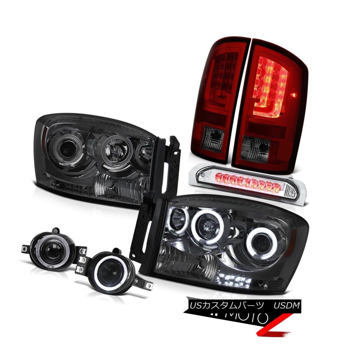テールライト 07-08 Dodge Ram 2500 5.9L Taillights Smokey Headlights Fog Lamps High STop Lamp 07-08ダッジラム2500 5.9LテールライトスモーキーヘッドライトフォグランプハイSTOPランプ