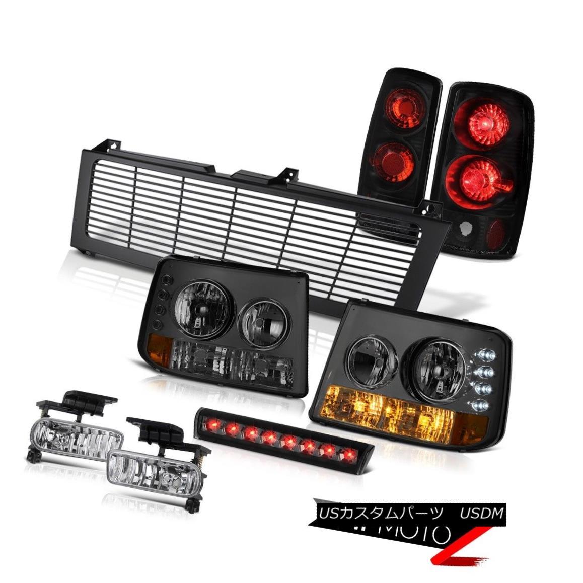 テールライト Smoke Headlamps Black Reverse Tail Lights Fog Cargo LED Grille 00-06 Tahoe LS スモークヘッドランプブラックリバーステールライトフォグカーゴLEDグリル00-06タホLS