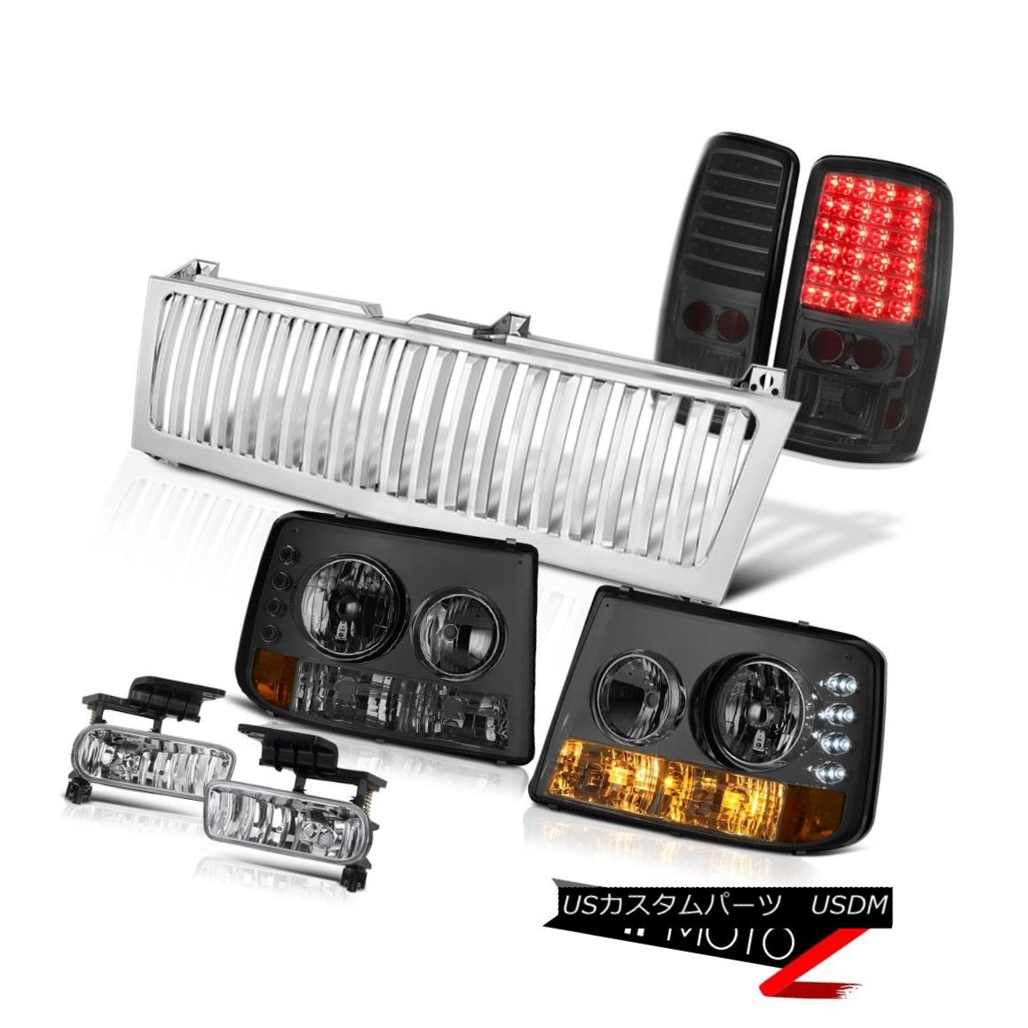 テールライト 00 01 02 03 04 05 06 Suburban 5.3L Smoke Headlights BrakeLight Chrome Fog Grille 00 01 02 03 04 05 06郊外5.3LスモークヘッドライトBrakeLight Chrome Fog Grille