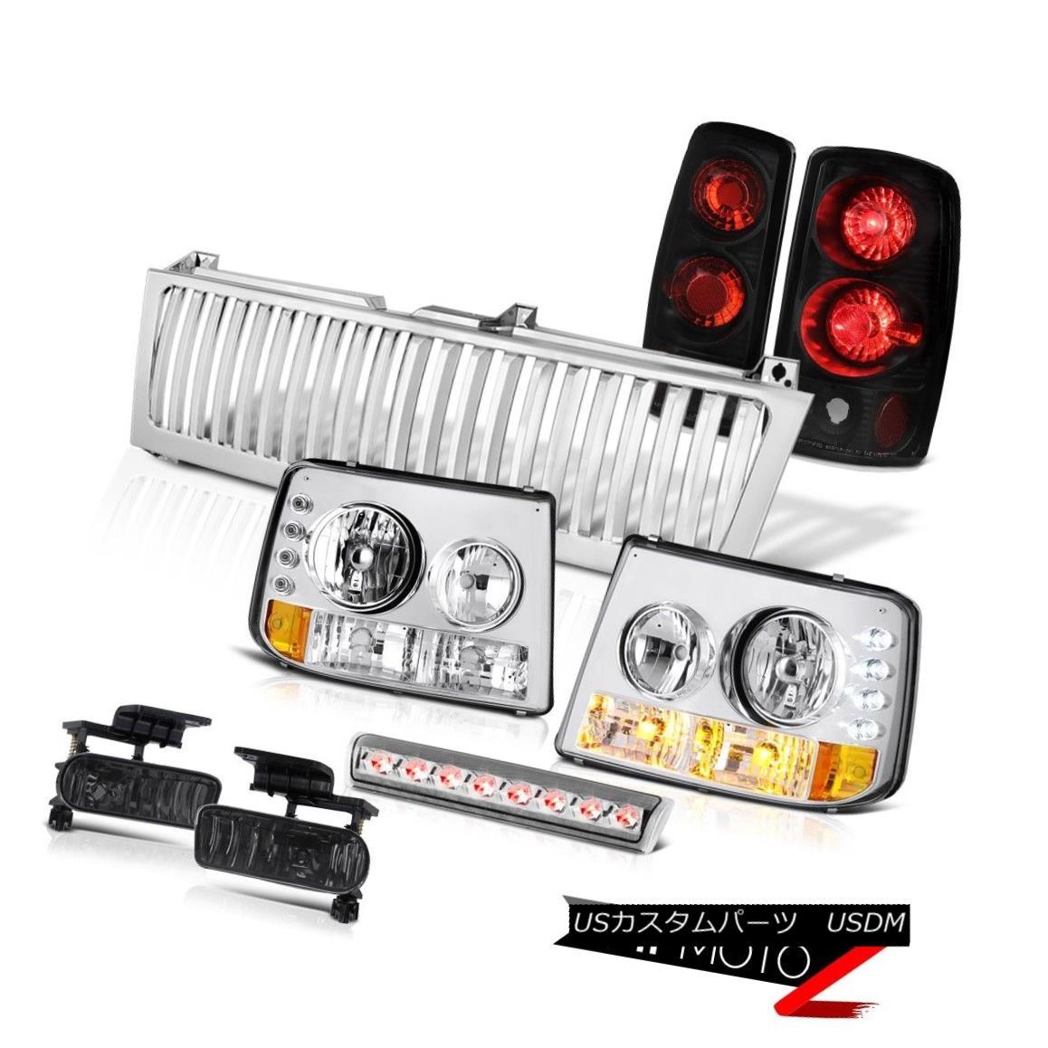 テールライト Headlamps Rear Brake Lights Black Fog Third LED Grille 00-06 Tahoe 4.8L Signal ヘッドランプリアブレーキライトブラックフォグ第3 LEDグリル00-06タホ4.8L信号