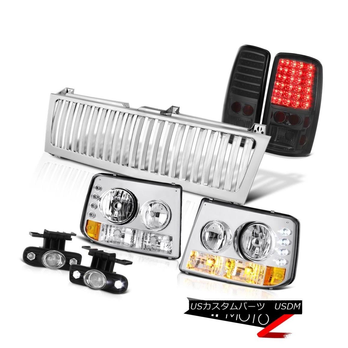 テールライト 2000-2006 Suburban 6.0L Headlights Brake Lamps Projector Foglights Chrome Grille 2000-2006郊外6.0Lヘッドライトブレーキランププロジェクターフォグライトクロームグリル