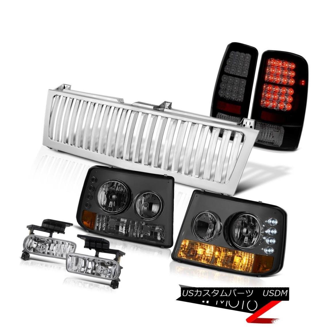 テールライト 00 01 02 03 04 05 06 Suburban 5.3L Headlights LED Brake Lamps Fog Chrome Grille 00 01 02 03 04 05 06郊外5.3LヘッドライトLEDブレーキランプフォグクロームグリル
