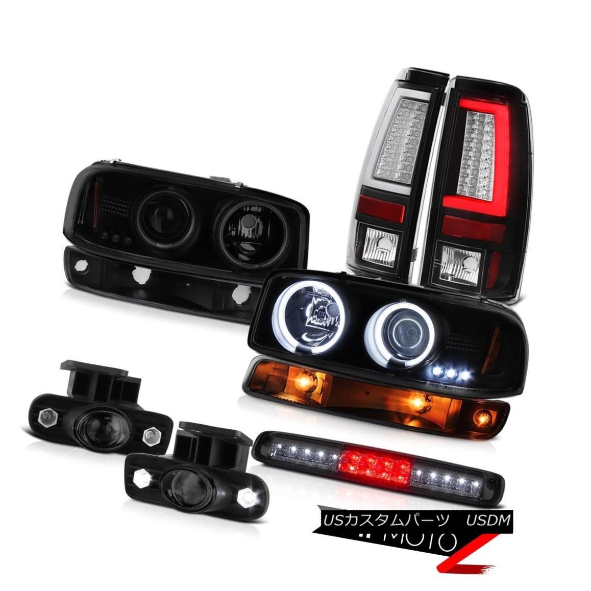 テールライト 99 00 01 02 Sierra 5.3L Taillamps High Stop Light Bumper Foglamps CCFL Headlamps 99 00 01 02 Sierra 5.3L TaillampsハイストップライトバンパーフォグランプCCFLヘッドランプ