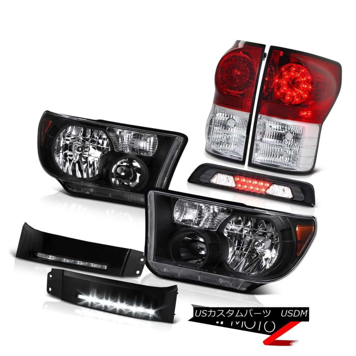 テールライト 07-13 Toyota Tundra SR5 Headlamps DRL Strip 3RD Brake Lamp Red Rear Lamps LED 07-13トヨタトンドラSR5ヘッドランプDRLストリップ3RDブレーキランプレッドリアランプLED