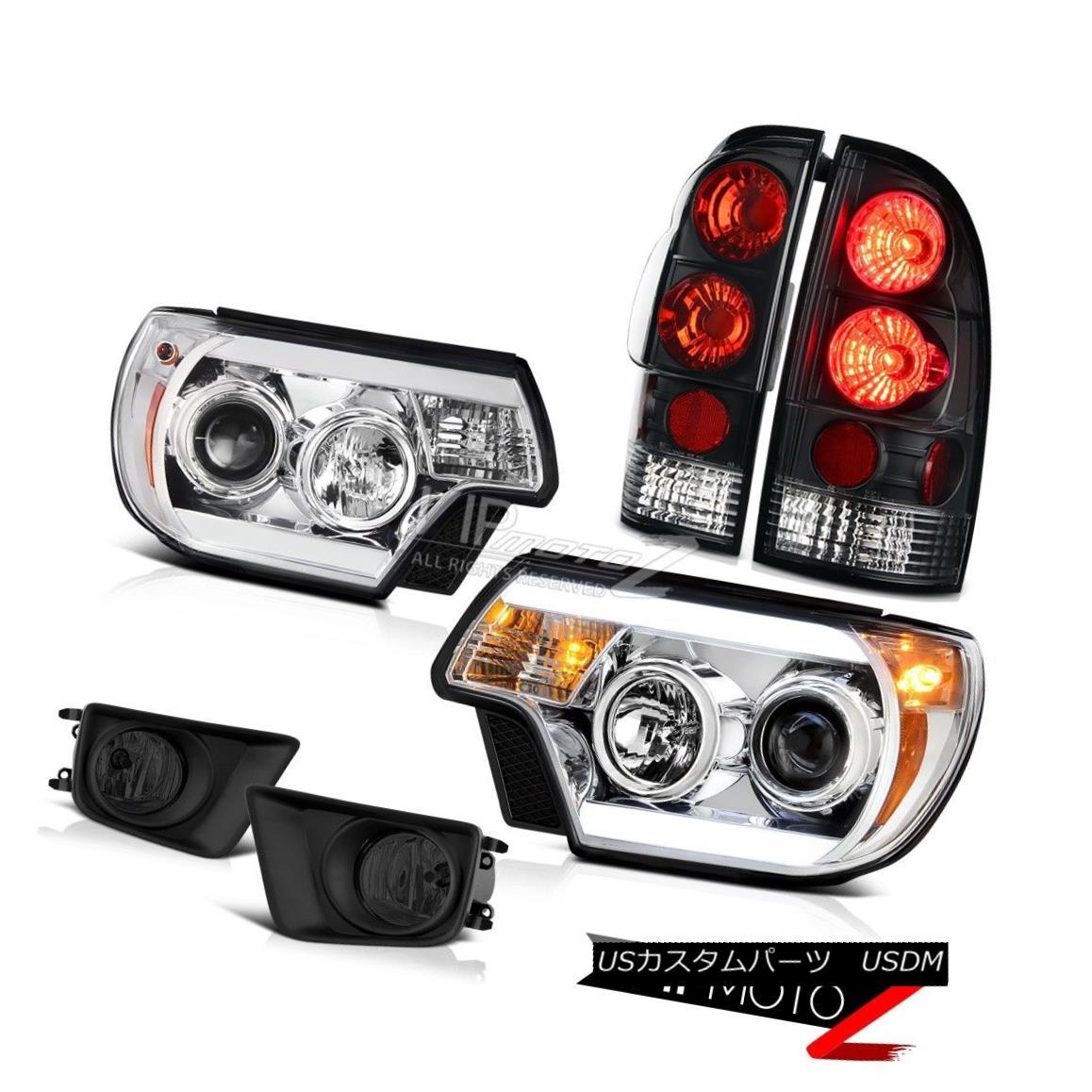 テールライト 12-15 Toyota Tacoma 4WD Fog lights euro clear headlamps tail lamps Tron Style 12-15トヨタタコマ4WDフォグライトユーロクリアヘッドライトテールランプトロンスタイル