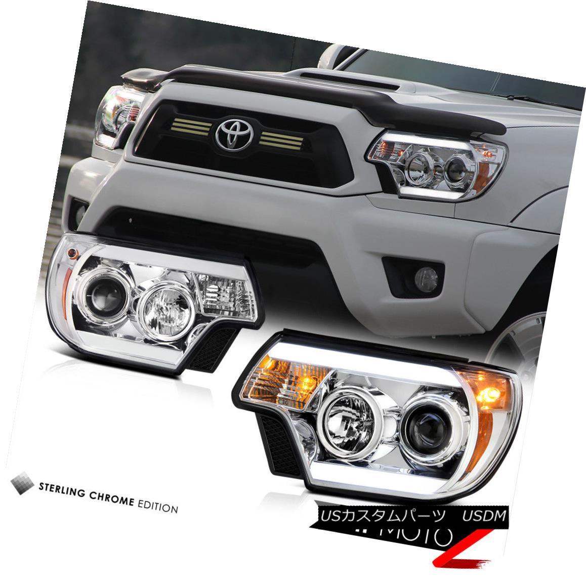 12-15トヨタタコマTRDプロヘッドライトスモーテールランプライトバートロンスタイル 12-15 Toyota Tacoma TRD Pro Headlights smokey tail lamps Light Bar Tron Style テールライト