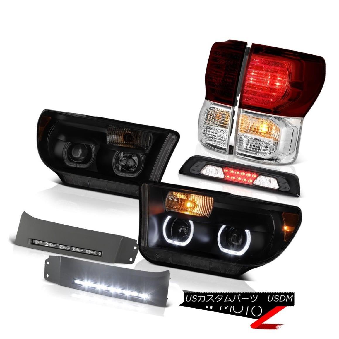 テールライト 2007-2013 Toyota Tundra Platinum Headlamps Bumper DRL High Stop Light Taillamps 2007年?2013年トヨタ・トンドラ・プラチナヘッドランプバンパーDRLハイストップ・ライト・タイヤランプ