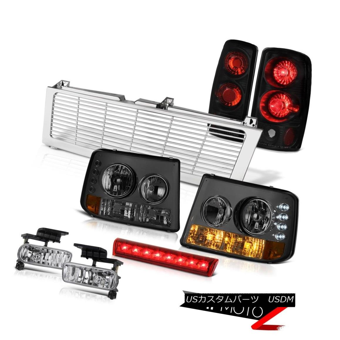 テールライト Tinted Parking Headlamps Rear Brake Lights Fog Third LED Chrome 00-06 Tahoe 4.8L 着色駐車場ヘッドランプリアブレーキライトフォグサードLEDクローム00-06タホ4.8L