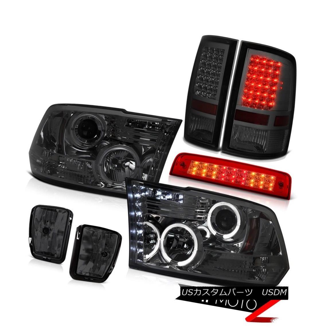 テールライト 13-18 Ram 1500 Lone Star Red 3RD Brake Lamp Smokey Foglamps Taillights Headlamps 13-18ラム1500ローンスターレッド3RDブレーキランプスモーキーフォグライトテールライトヘッドランプ