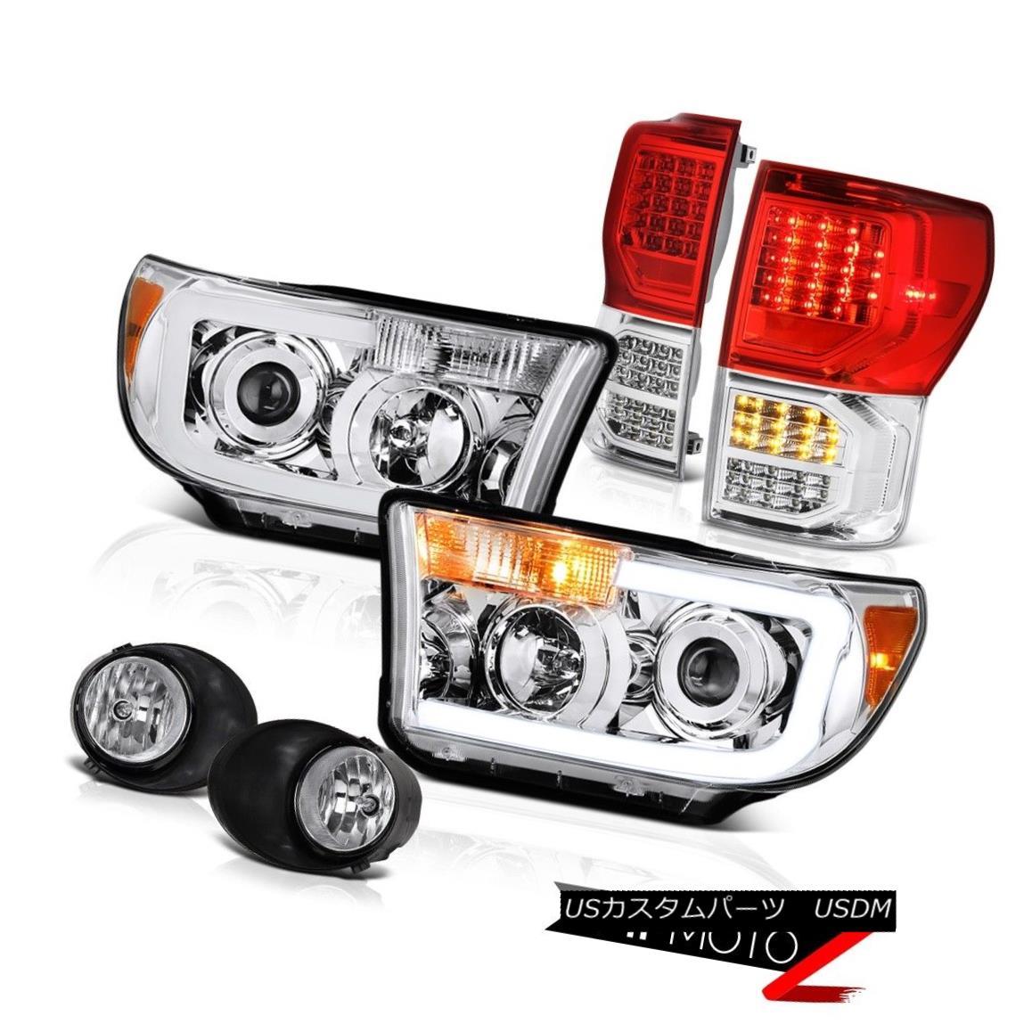 テールライト 07-13 Toyota Tundra Platinum Taillights Headlamps Fog Lamps LED SMD Brightest 07-13トヨタトンドラプラチナティアライトヘッドランプフォグランプLED SMDブライト