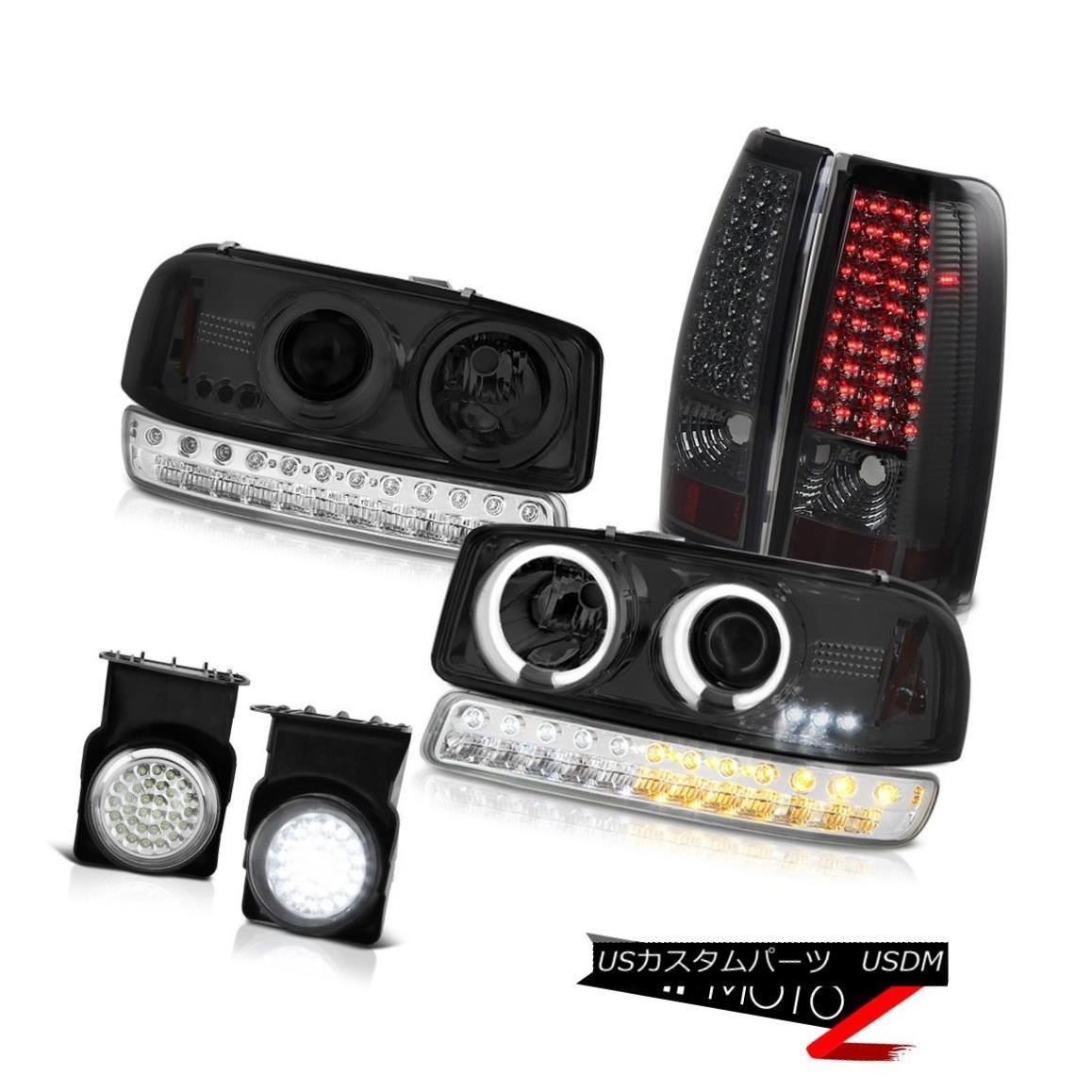 テールライト 03-06 Sierra SL Fog Lights Smokey LED Tail Bumper Light CCFL Projector Headlamps 03-06 Sierra SLフォグライトスモーキーLEDテールバンパーライトCCFLプロジェクターヘッドランプ