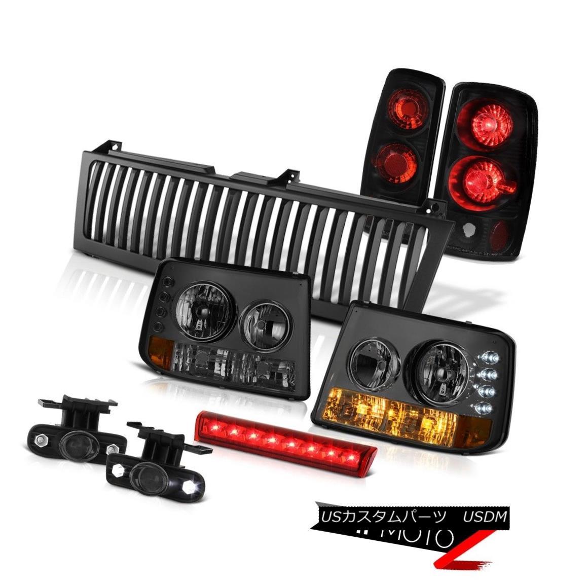 テールライト Smoke Parking Headlights Black Reverse Tail Lights Fog Brake LED Red 00-06 Tahoe スモークパーキングヘッドライトブラックリバーステールライトフォグブレーキLEDレッド00-06タホ