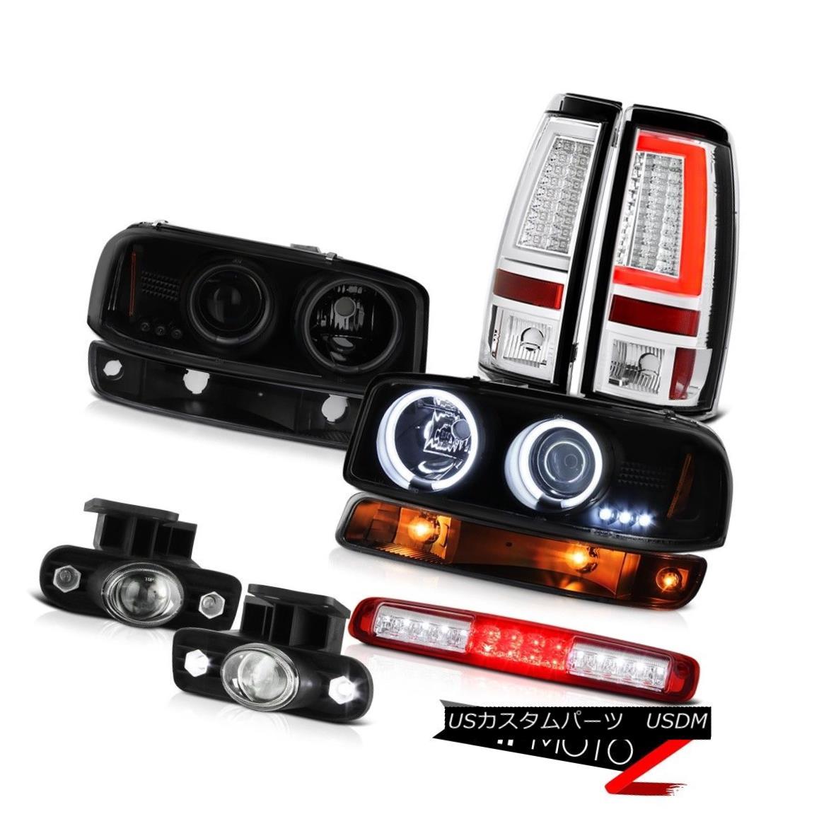テールライト 99 00 01 02 Sierra GMT800 Tail Lamps High Stop Lamp Parking Fog CCFL Headlamps 99 00 01 02シエラGMT800テールランプハイストップランプパーキングフォグCCFLヘッドランプ