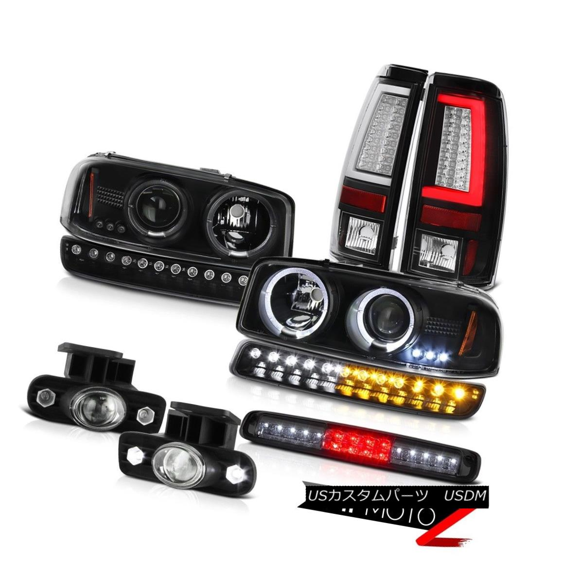 テールライト 99-02 Sierra SL Tail Lights Roof Brake Light Signal Fog Headlamps Tron Tube LED 99-02 Sierra SLテールライトルーフブレーキライト信号霧ヘッドランプTron Tube LED