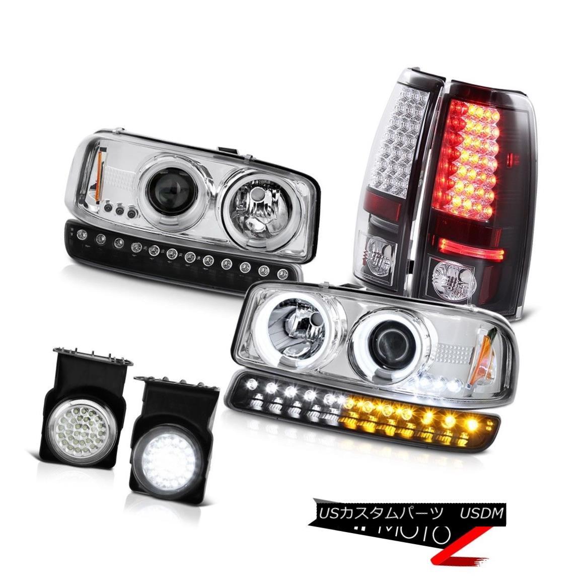 テールライト 03-06 Sierra SL Chrome fog lights tail turn signal ccfl Headlamps LED Halo Ring 03-06シエラSLクロームフォグライトテールターンシグナルccflヘッドランプLEDハローリング
