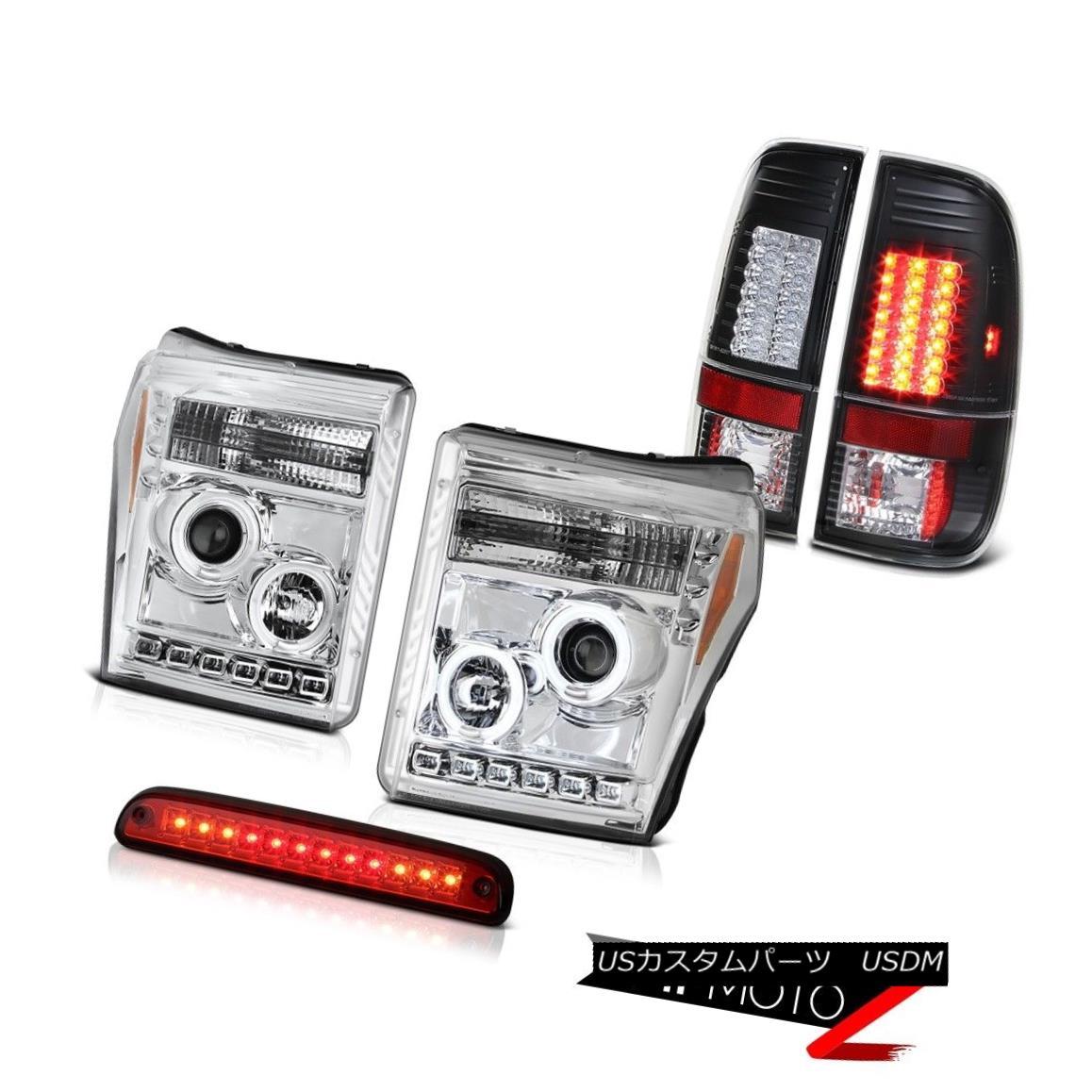 テールライト 11 12 13 14 15 16 F250 6.2L Roof Cargo Light Black Tail Lights Chrome Headlamps 11 12 13 14 15 16 F250 6.2Lルーフカーゴライトブラックテールライトクロームヘッドランプ