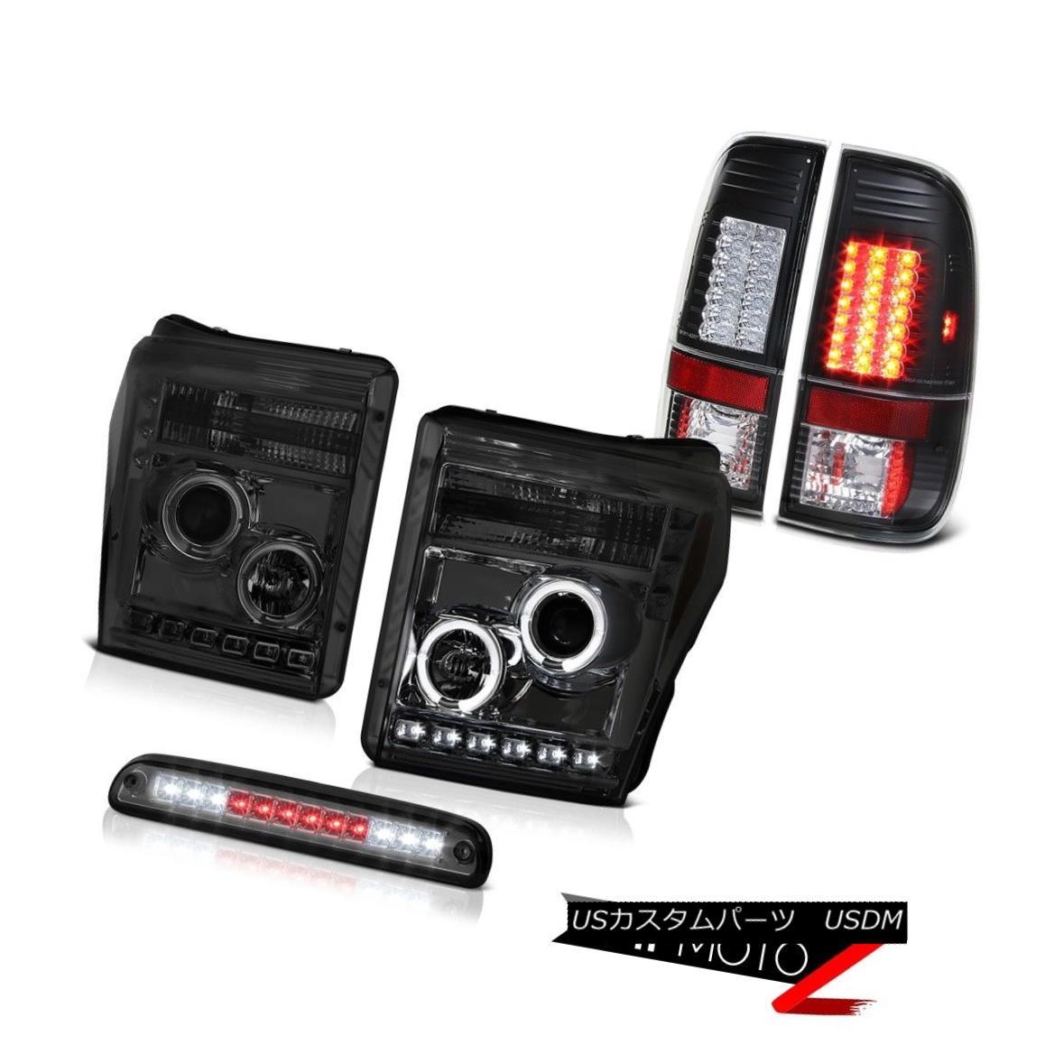 テールライト 2011-2016 Ford F-250 Third Brake Lamp Matte Black Tail Lights Headlamps LED SMD 2011-2016フォードF-250第3ブレーキランプマットブラックテールライトヘッドランプLED SMD