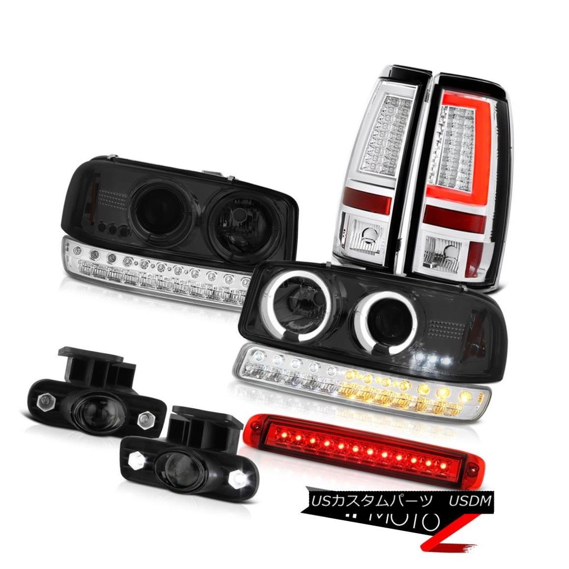テールライト 99-02 Sierra 3500HD Taillamps Roof Cab Lamp Fog Lamps Bumper Headlamps Halo Ring 99-02 Sierra 3500HDタイルランプルーフキャブランプフォグランプバンパーヘッドランプハローリング