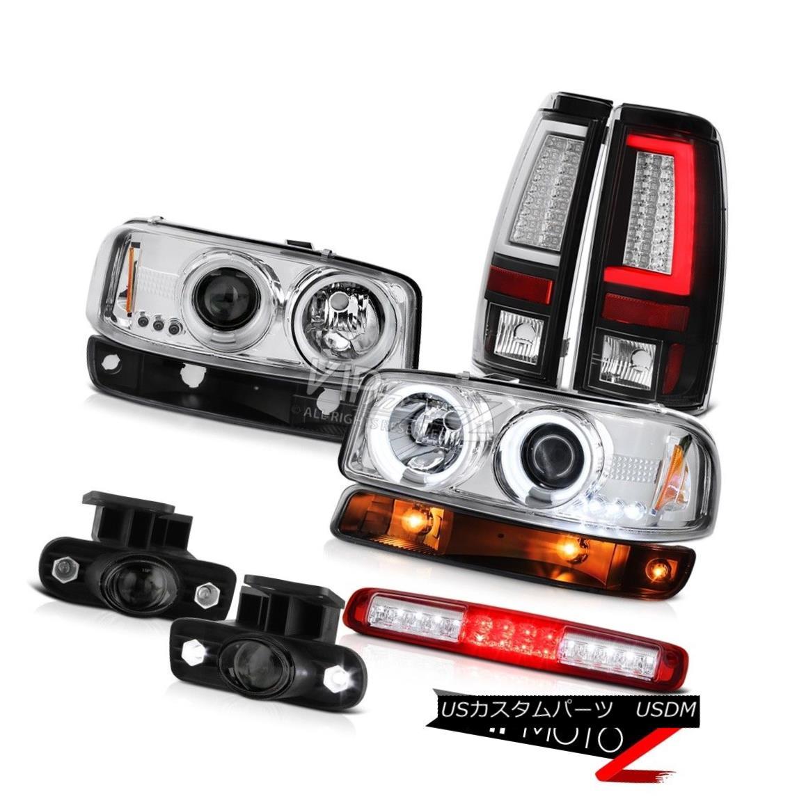 テールライト 1999-2002 Sierra 6.0L Taillamps High Stop Lamp Bumper Foglamps CCFL Headlights 1999-2002 Sierra 6.0L TaillampsハイストップランプバンパーフォグランプCCFLヘッドライト