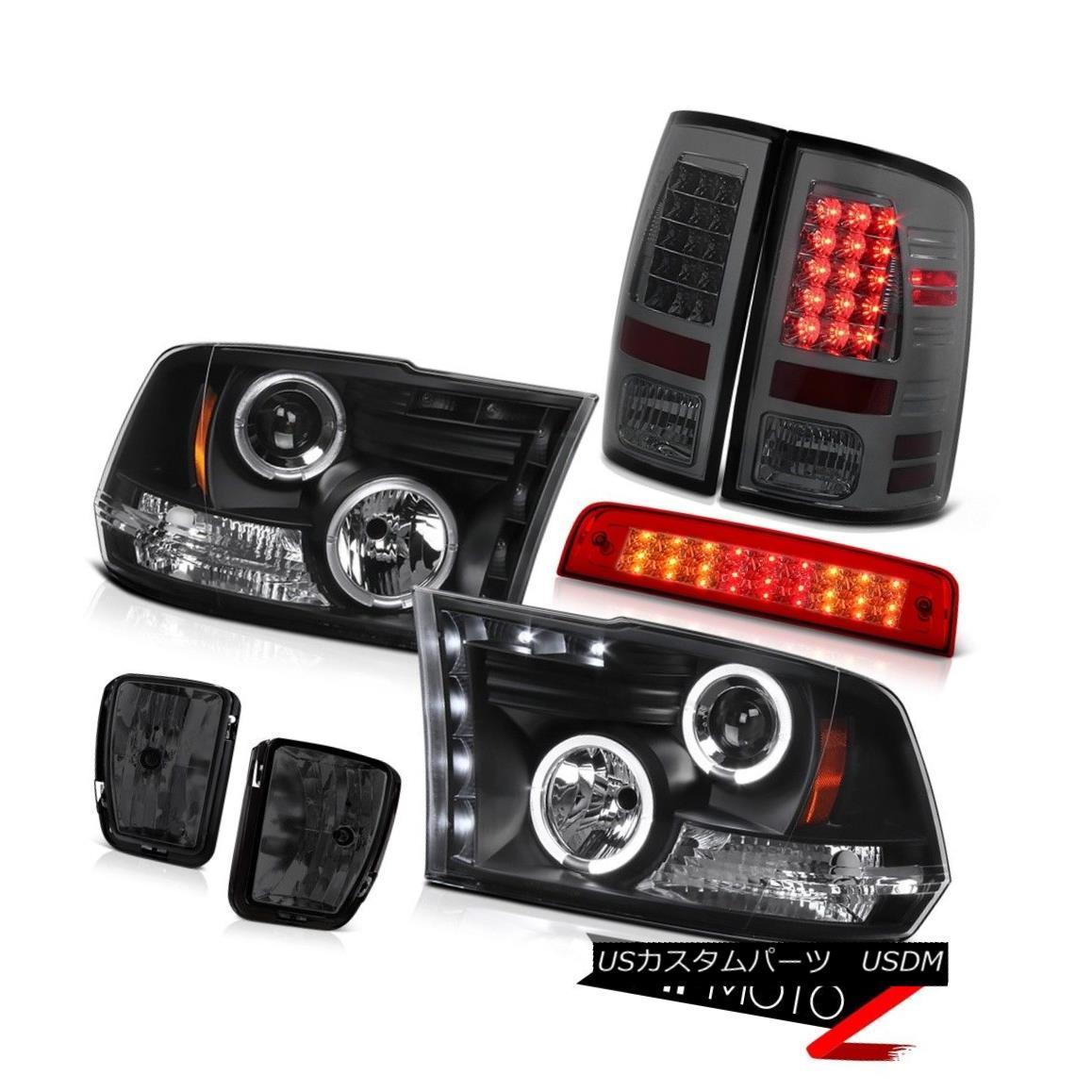 テールライト 2013-2018 Ram 1500 RT 3RD Brake Light Foglamps Rear Lamps Headlights Angel Eyes 2013-2018ラム1500 RT 3RDブレーキライトフォグランプリアライトヘッドライトエンジェルアイズ