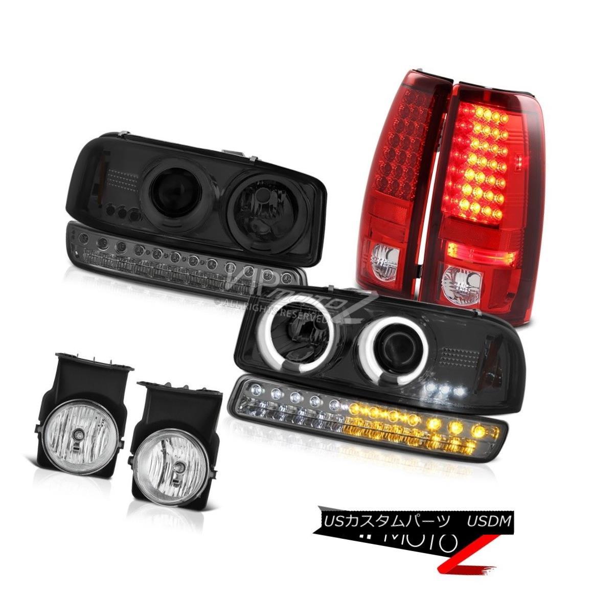 テールライト 03-06 Sierra C3 Foglights red clear SMD Tail Lamps Bumper Lamp CCFL Headlights 03-06シエラC3フォグライト赤いクリアとテールランプバンパーランプCCFLヘッドライト