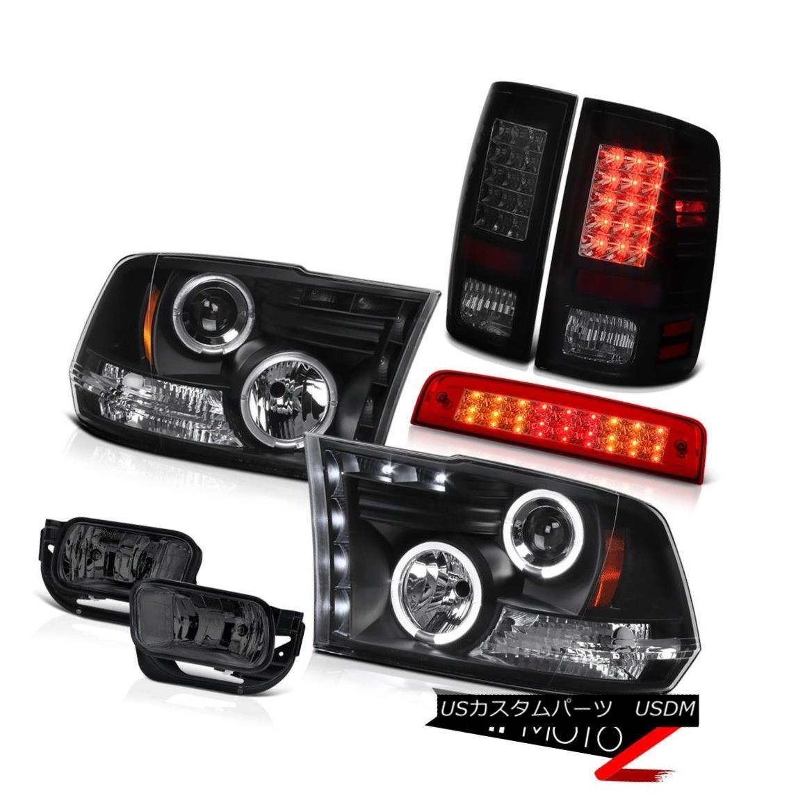 テールライト 10-18 Ram 2500 3500 SLT Wine Red High Stop Lamp Foglamps Tail Lights Headlamps 10-18 Ram 2500 3500 SLTワインレッドハイストップランプフォグランプテールライトヘッドランプ