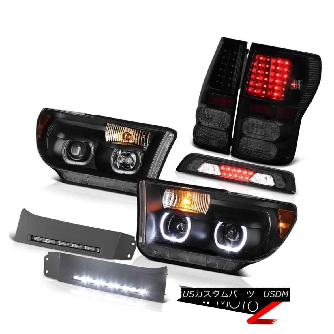 テールライト 07-13 Toyota Tundra SR5 Headlamps Bumper DRL 3RD Brake Lamp Taillamps Halo Rim 07-13トヨタ・トンドラSR5ヘッドランプバンパーDRL 3RDブレーキランプ・タイヤランプ・ハロー・リム