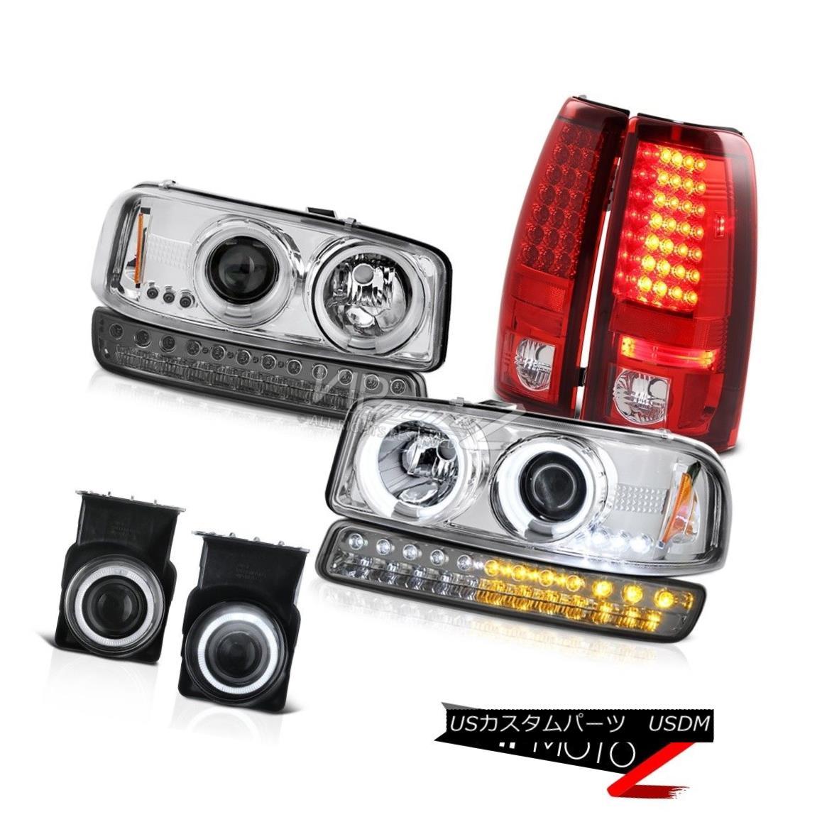 テールライト 03-06 Sierra 1500 Foglamps red LED Taillights Smokey Parking Lamp CCFL Headlamps 03-06 Sierra 1500 Foglamps赤色LEDテールランプスモーキーパーキングランプCCFLヘッドランプ