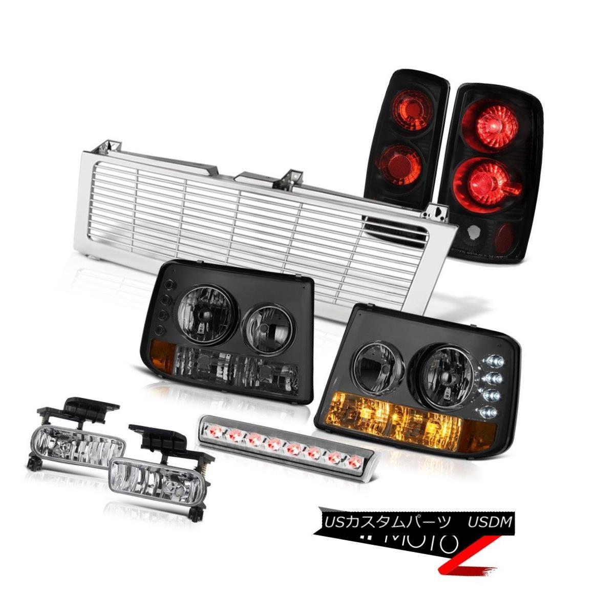 テールライト Smoke Headlights Black Taillights Fog Stop LED Clear Chrome 00-06 Suburban 8.1L スモークヘッドライトブラックテールライトフォグストップLEDクリアクローム00-06郊外8.1L