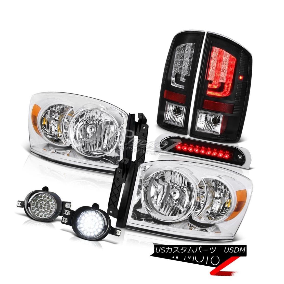 テールライト 07-08 Ram 1500 2500 1500 3.7L Taillamps Roof Cab Light Headlights Fog Lamps SMD 07-08ラム1500 2500 1500 3.7LタイルランプルーフキャブライトヘッドライトフォグランプSMD