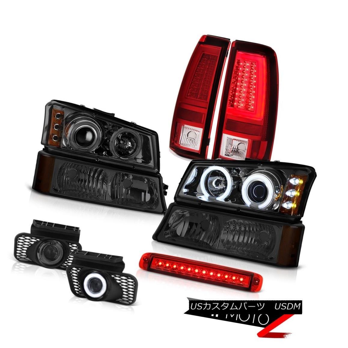 テールライト 03-06 Silverado 2500Hd Red Taillights 3RD Brake Lamp Signal Fog Lamps Headlamps 03-06 Silverado 2500Hd赤い灯台3RDブレーキランプ信号フォグランプヘッドランプ