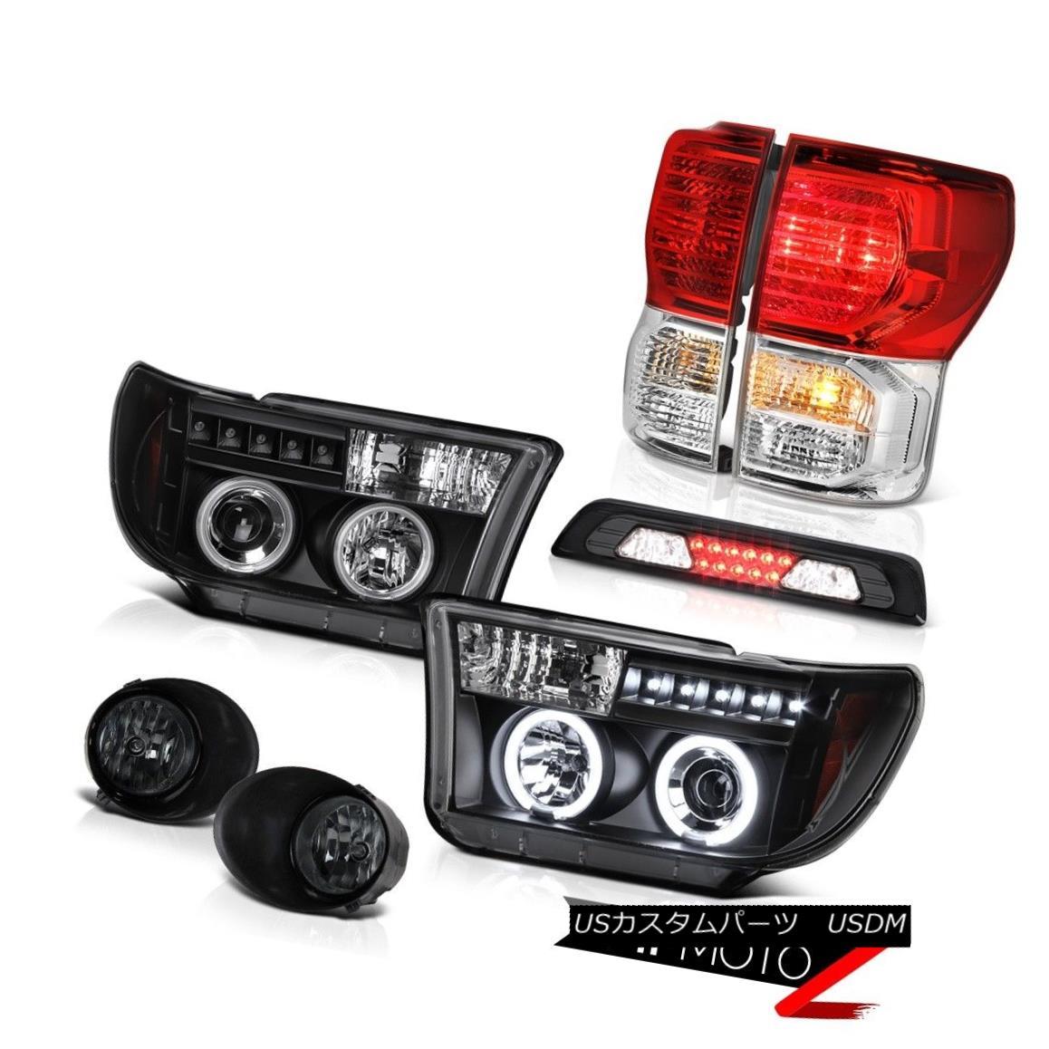 テールライト 07-13 Toyota Tundra SR5 Fog Lights 3RD Brake Light Rear Headlamps LED Brightest 07-13トヨタトンドラSR5フォグライト3RDブレーキライトリアヘッドランプLEDブライト