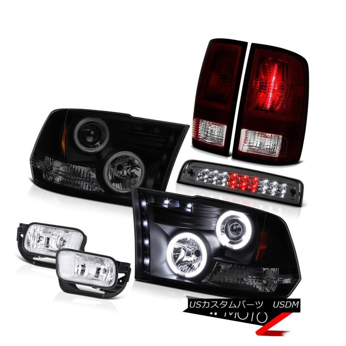 テールライト 09-13 Dodge Ram 1500 SLT Foglamps Roof Cab Lamp Taillamps Headlamps SMD CCFL Rim 09-13 Dodge Ram 1500 SLTフォグランプルーフキャブランプタイルランプヘッドランプSMD CCFLリム