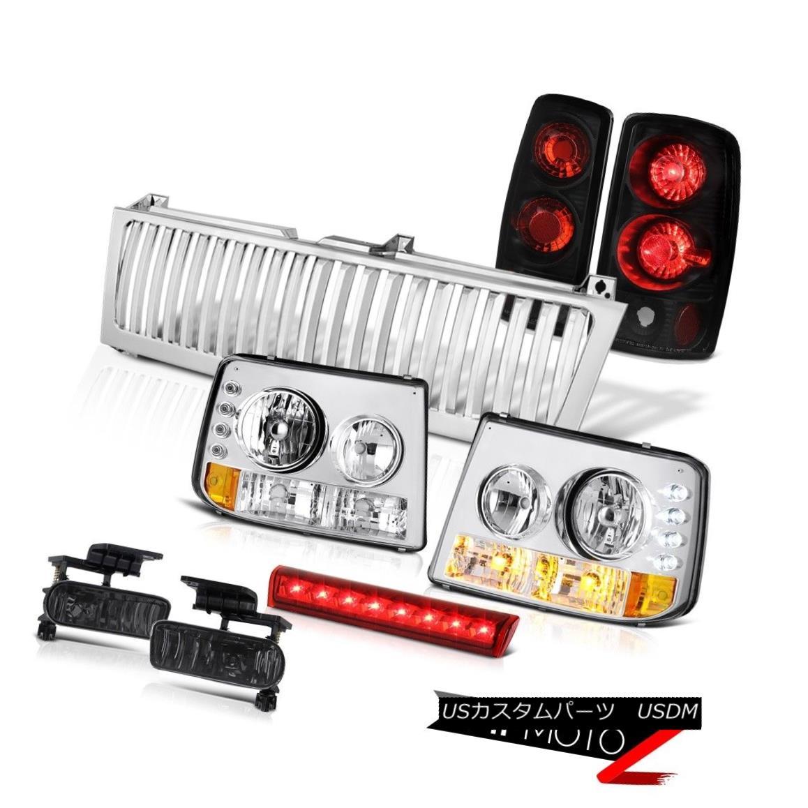 テールライト 00-06 Suburban 8.1L Signal Headlamps Tail Lights Black Fog High Brake LED Chrome 00-06郊外8.1LシグナルヘッドランプテールライトブラックフォッグハイブレーキLEDクロム