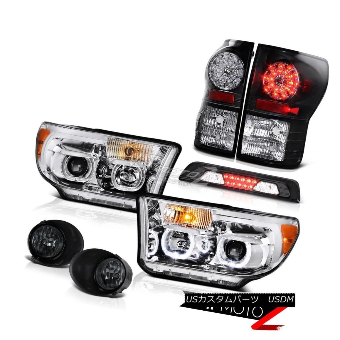 テールライト 2007-2013 Toyota Tundra SR5 Headlamps Foglights Roof Cab Light Black Tail Lamps 2007-2013トヨタトンドラSR5ヘッドランプフォグライトルーフキャブライトブラックテールランプ