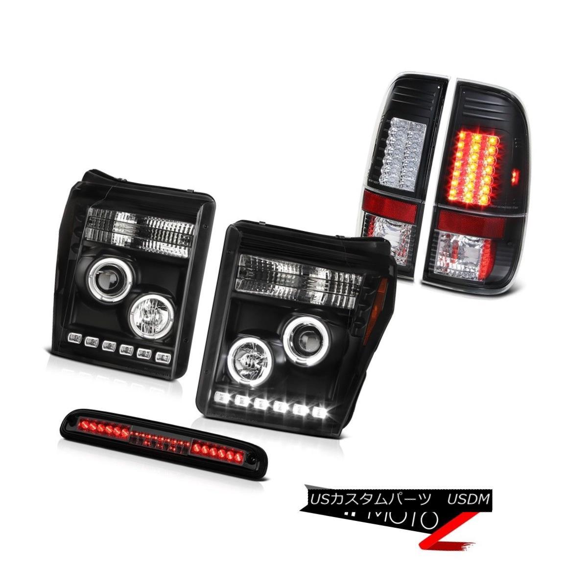 テールライト 2011-2016 F250 Turobdiesel Phantom Smoke 3RD Brake Light Tail Lights Headlights 2011-2016 F250ターボディーゼルファントムスモーク3RDブレーキライトテールライトヘッドライト