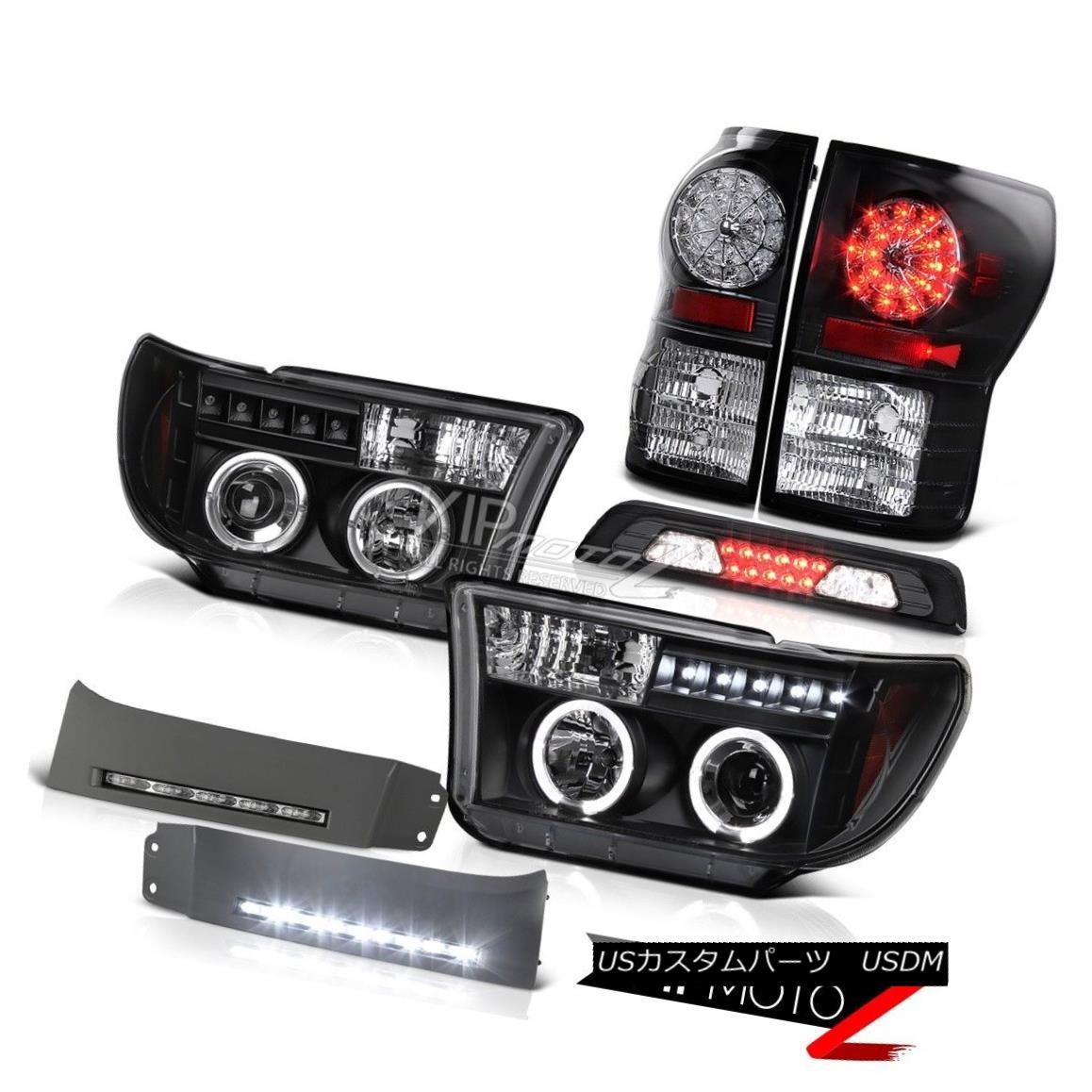 テールライト 2007-2013 Toyota Tundra SR5 DRL Strip 3RD Brake Light Headlights Taillamps LED 2007-2013 Toyota Tundra SR5 DRL Strip 3RDブレーキライトヘッドライトトライアングルLED