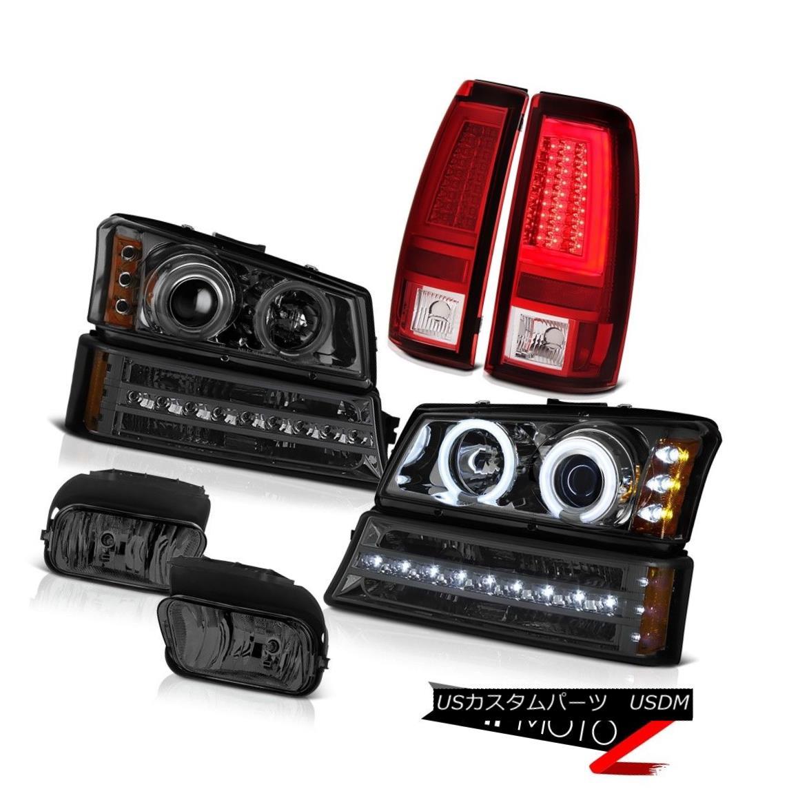 テールライト 2003-2006 Silverado 1500 Red Taillamps Smoked Foglamps Bumper Light Headlights 2003-2006 Silverado 1500赤いタイルランプスモークフォグランプバンパーライトヘッドライト