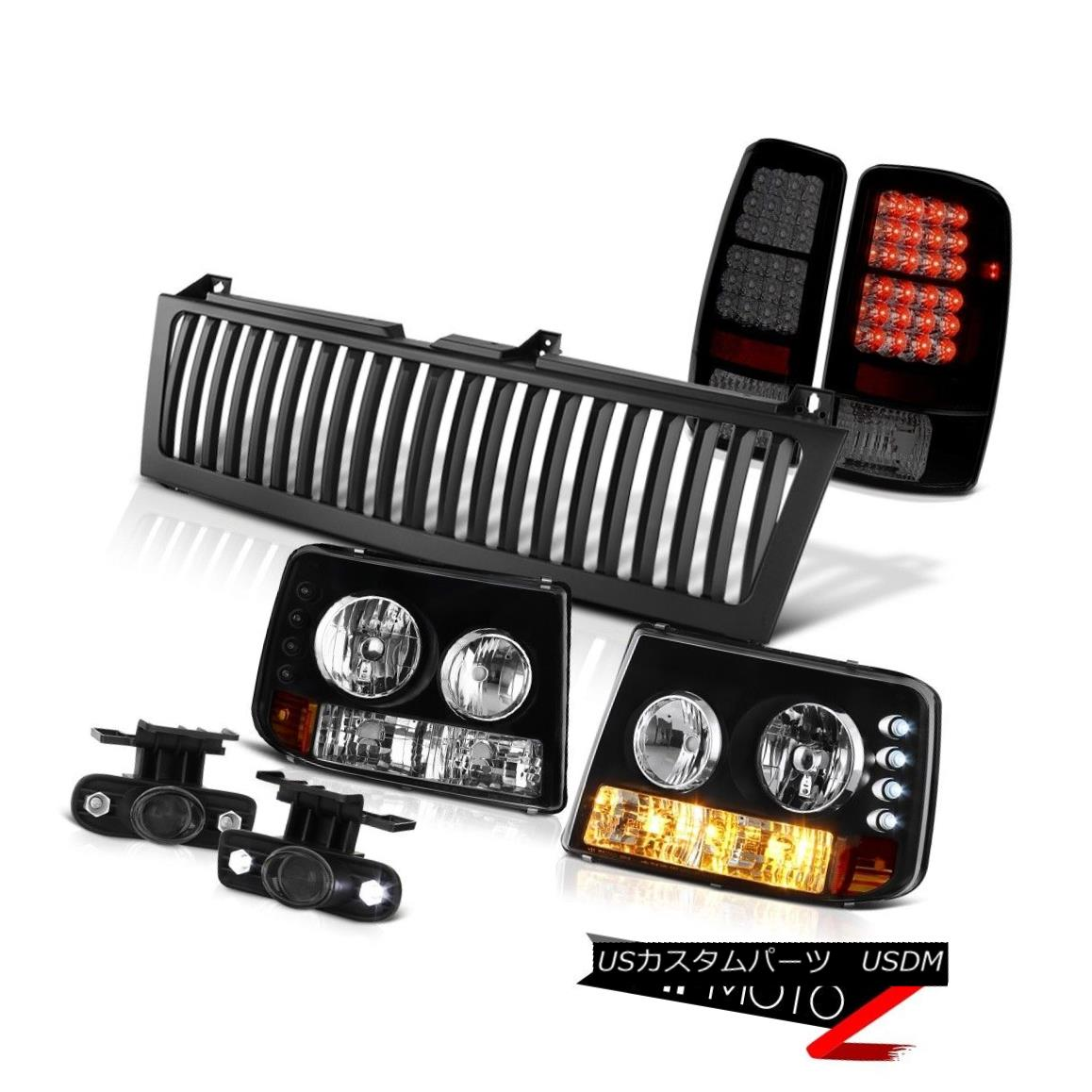 テールライト 2000-2006 Suburban Headlight Sinister Black LED Brake Lamps Projector Fog Grille 2000-2006郊外ヘッドライト不快な黒LEDブレーキランププロジェクターフォググリル