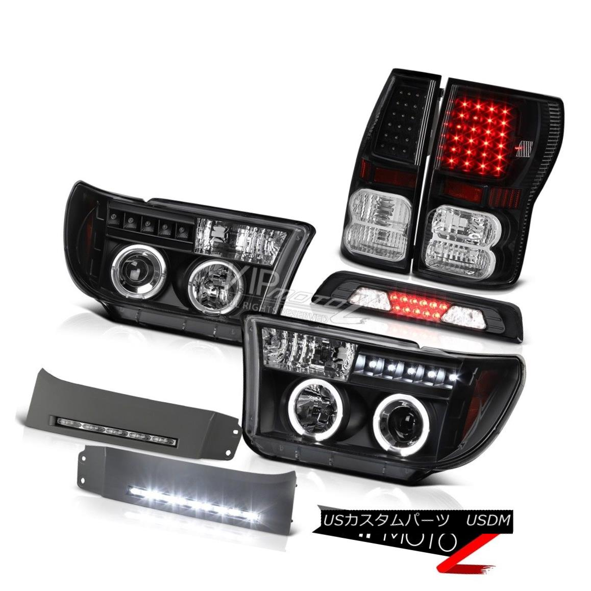 テールライト 2007-2013 Toyota Tundra Platinum Bumper DRL 3RD Brake Lamp Rear Lights Headlamps 2007-2013 Toyota Tundra PlatinumバンパーDRL 3RDブレーキランプリアライトヘッドランプ