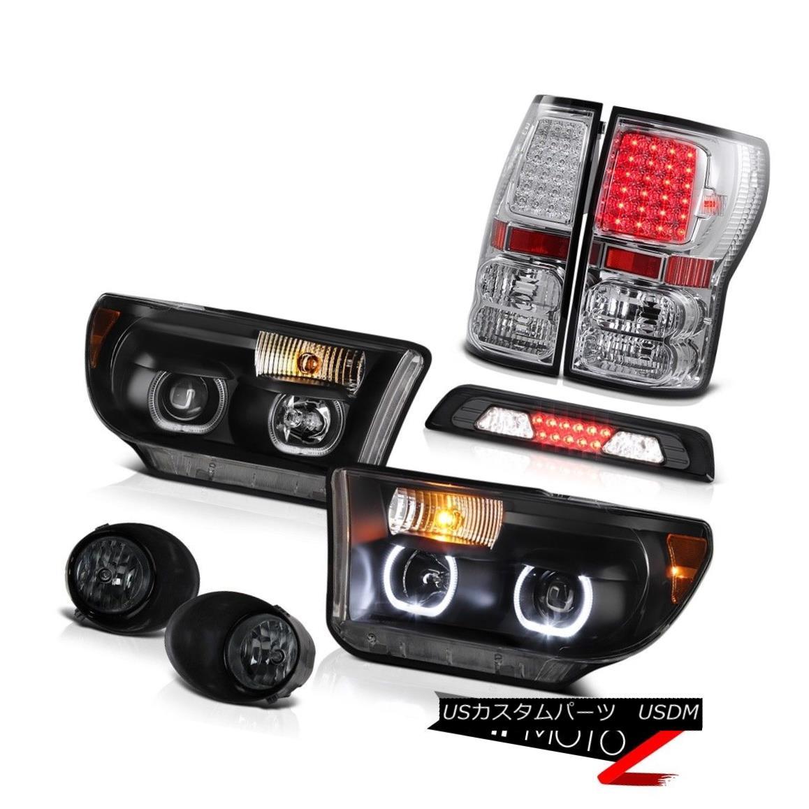 テールライト 07-13 Toyota Tundra SR5 Headlamps Smokey Foglights 3RD Brake Light Tail Lamps 07-13トヨタトンドラSR5ヘッドランプスモークフォグライト3RDブレーキライトテールランプ