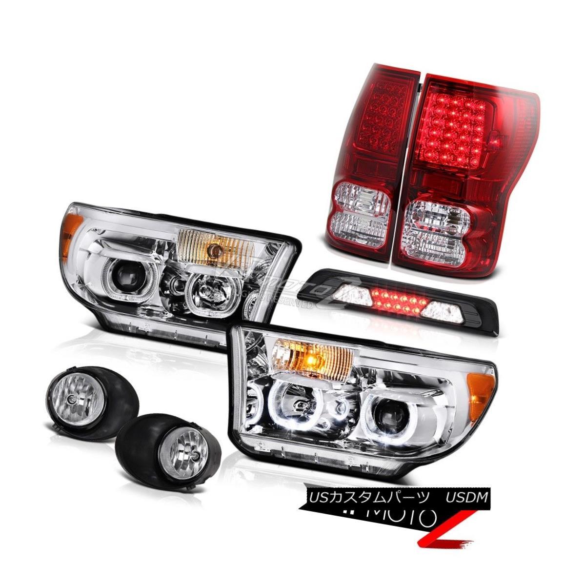 テールライト 07-13 Toyota Tundra SR5 Headlights Foglights 3RD Brake Lamp Taillamps Angel Eyes 07-13トヨタ・トンドラSR5ヘッドライトフォグライト3RDブレーキランプ・タイルランプエンジェルアイズ