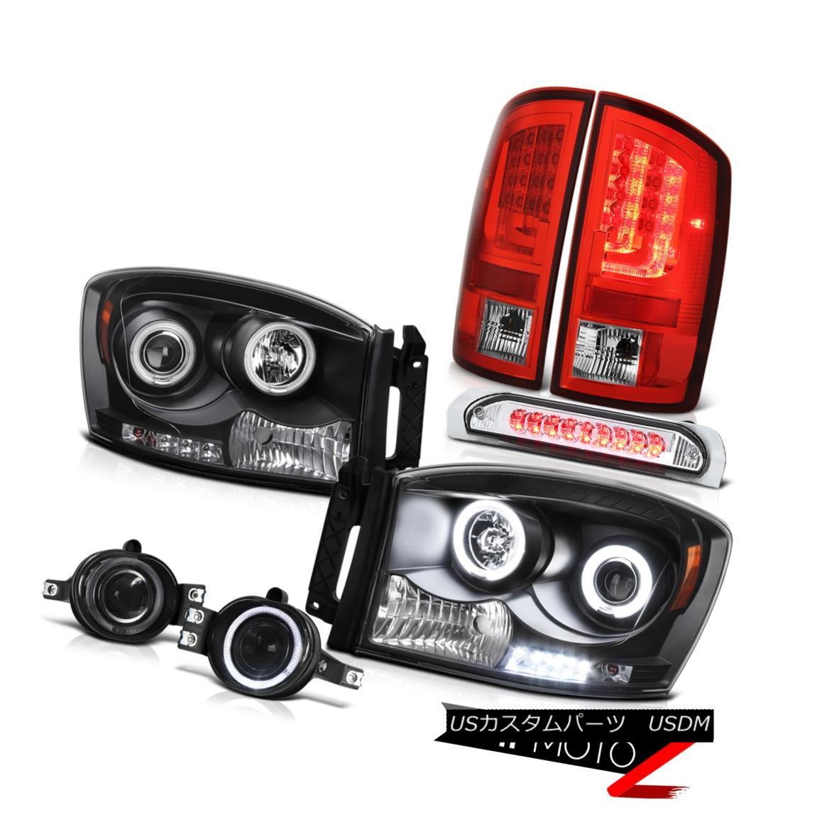 テールライト 07-08 Dodge Ram 1500 4.7L Tail Brake Lamps Headlights Fog 3RD Lamp
