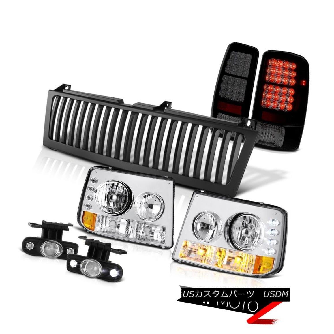 テールライト 2000-2006 Suburban 6.0L Headlight Sinister Taillight Glass Projector Fog Grille 2000-2006郊外の6.0Lヘッドライト不器用なテールライトガラスプロジェクターフォググリル