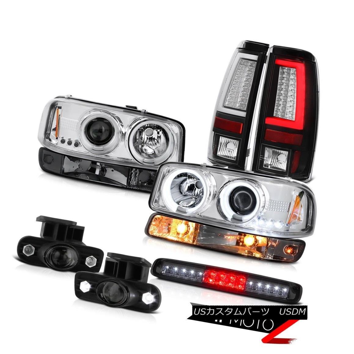 テールライト 1999-2002 Sierra 6.6L Taillights Roof Brake Lamp Bumper Foglights CCFL Headlamps 1999-2002シエラ6.6L灯台ルーフブレーキランプバンパーフォグライトCCFLヘッドランプ